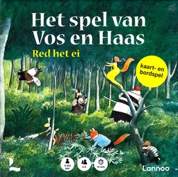 Coverafbeelding van: Het spel van Vos en Haas – Red het ei (kaart- en bordspel)